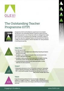 Outstanding Teacher Programme (OTP) Flyer 2015