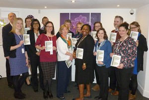Delegates receiving their OTAP TTT accreditation certificates