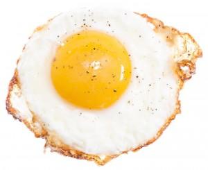 Fried Egg isolated on white