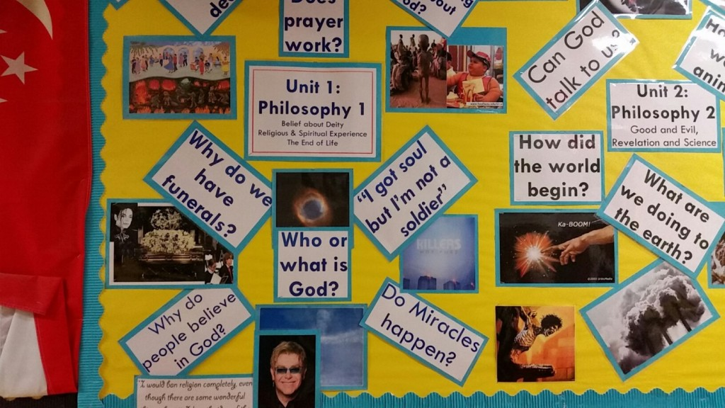 The quality of displays and learning walls such as 'thinking trees' and 'question of the week'