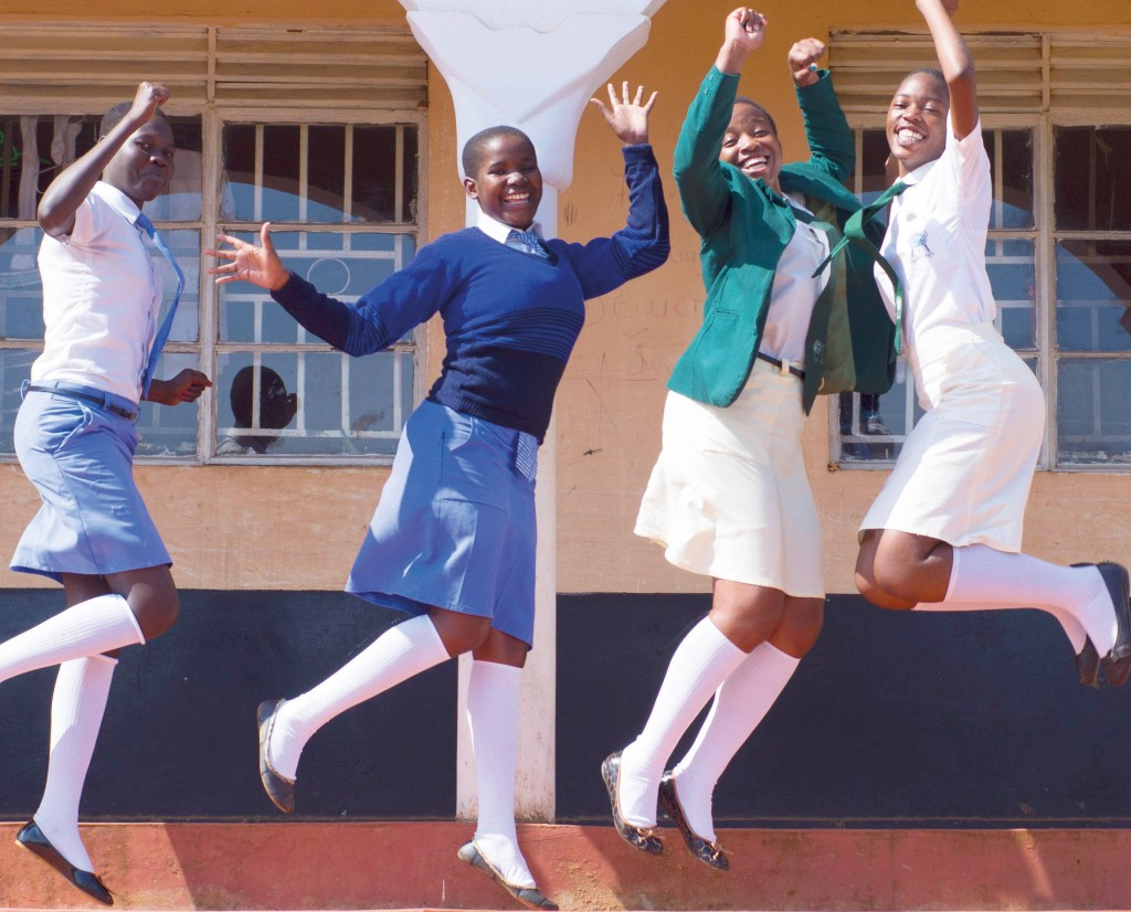 Students at Kisubi High School. Photograph courtesy of Scholé