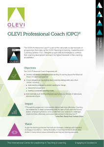 OLEVI Professional Coach flyer