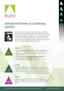 Advanced Power of Coaching (APOC) Flyer
