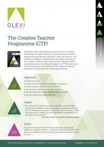 The Creative Teacher Programme Flyer graphic