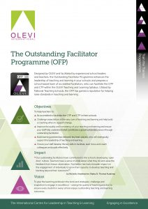 The Outstanding Facilitator Programme flyer graphic